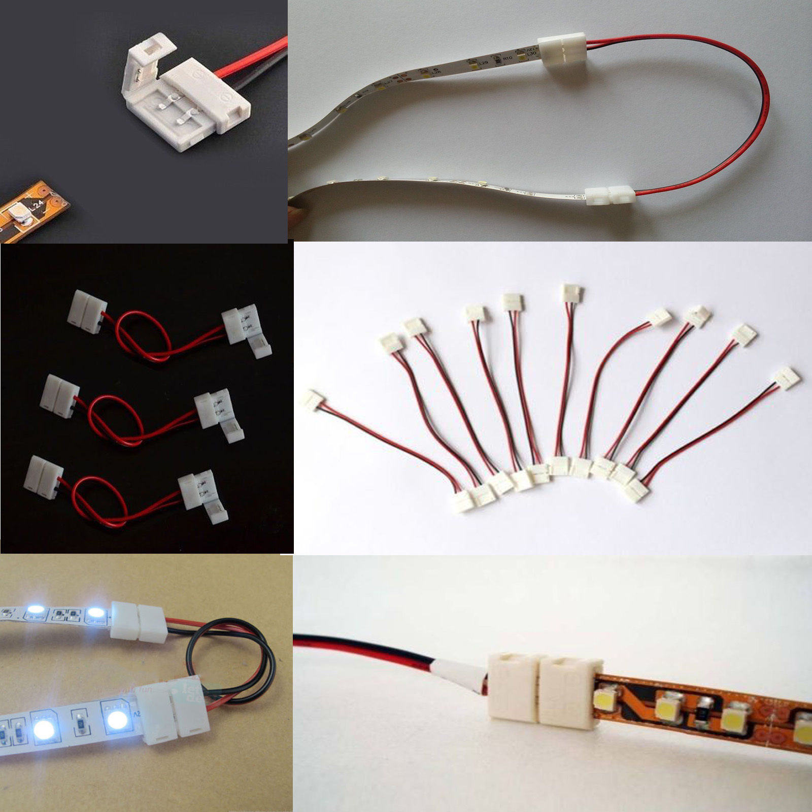 10pcs Led Strip Connector Crystal Chandelier Parts Wire Connector ...