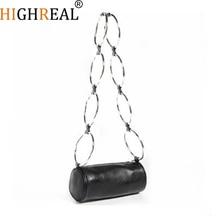Fashion Circular Scrub Litchi PU Leather Retro Metal Ring Handbag Small Round Shoulder Bag Women Mini Circle Bag drop shipping