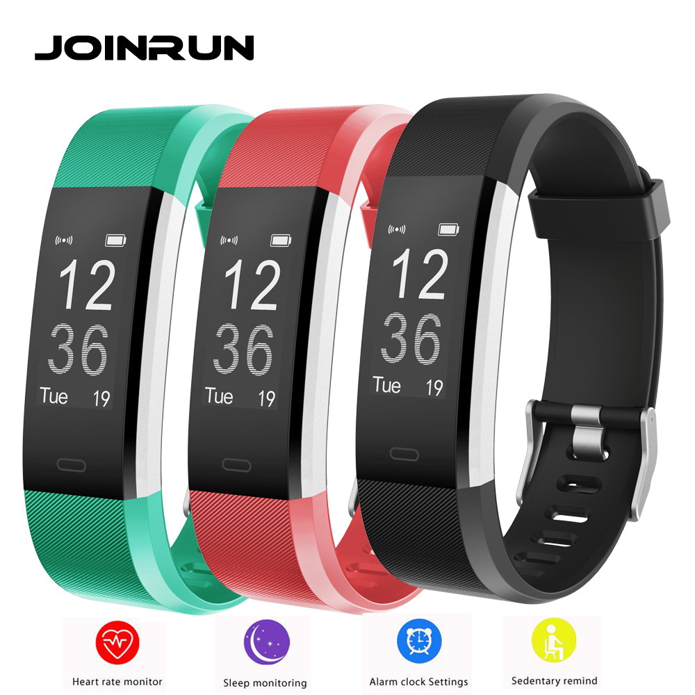 JOINRUN ID115 Plus Smart Bracelet Heart Rate Monitor Pedometer Fitness Tracker Smartband band Wristband IOS Android phone mymei bluetooth pedometer tracker smartband remote camera wristband for android ios sc