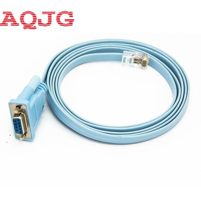 6FT Network RJ45 to RS232 COM Port Serial DB9 Female Router Console Cable Adapter Forcisco Huawei  Router COM AQJG