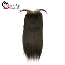 4*4 синтетическое закрытие шнурка прямые бразильские волосы remy бесплатно/средняя часть предварительно усеченная закрытие необработанные человеческие волосы красивые королевские волосы