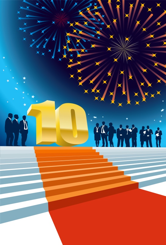 Laeacco Happy 10th Birthday Party Red Carpet Stairs Stage Celebration Photo Backdrops Photography Backgrounds For Photo Studio