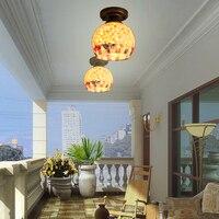 Akdeniz LED yatak odası kabuk tavan lambası kişiselleştirilmiş balkon koridor koridorlar giriş vestiyer kabuk lambaları