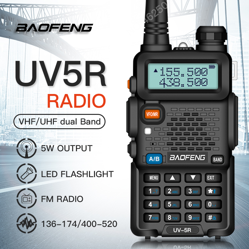 Image 5 - BAOFENG UV 5R Walkie Talkie Professional CB Radio 5W UV dual band two way radio for talkie walkie in moscow Hunting Ham Radio-in Walkie Talkie from Cellphones & Telecommunications