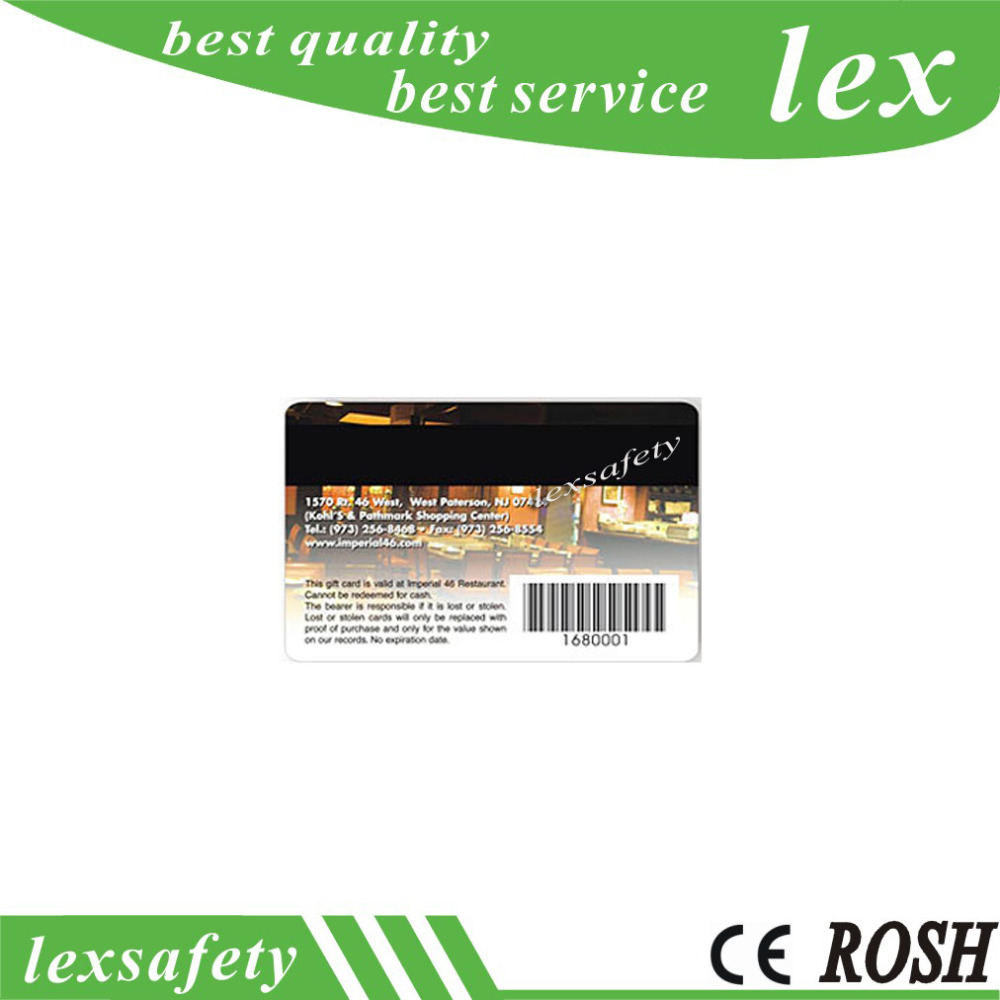 500pcs lot iso standard 4 color printing plastic gift card with barcode plain pvc gift cards