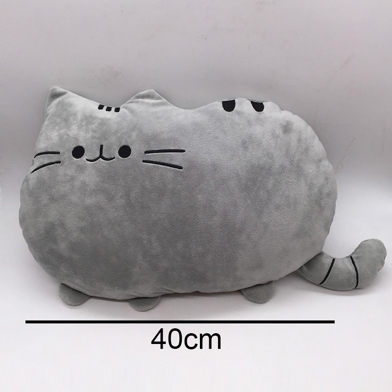 40*30cm Pusheen Cat Plush Toys Stuffed Animal Doll Animal Pillow Toys Pusheen Cat For Kids Kawaii Cute Cushion Brinquedos Gift 40 30cm plush toys stuffed animal doll without pp cotton juguetes toy pusheen cat brinquedos for kid kawaii peluches cute pillow