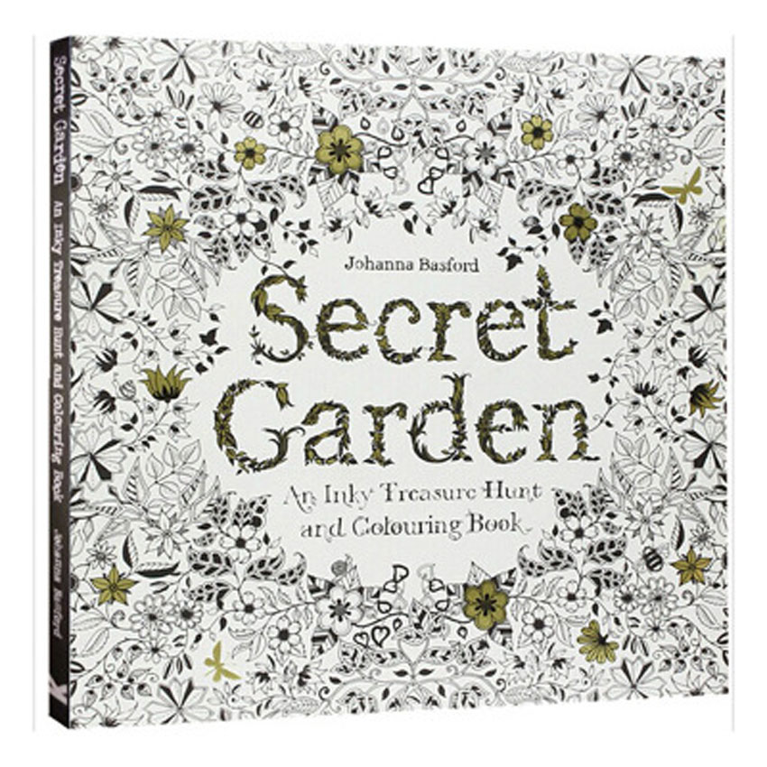 12 Color Pencils 96 Pages English Secret Garden Coloring Books For