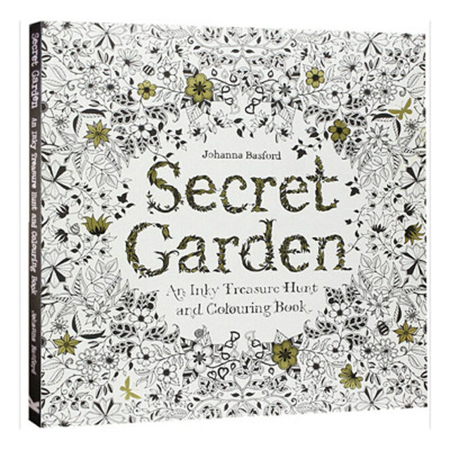 12 Color Pencils 96 Pages English Secret Garden Coloring Books For Adult Hand Drawn Relieve Stress Graffiti Painting Libros
