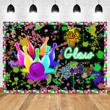 Bowling Theme Birthday Backdrop Let's Glow Party Graffiti Wall Photography Background Happy Birthday Party Banner Backdrops bowling theme birthday backdrop let s glow party graffiti wall photography background happy birthday party banner backdrops
