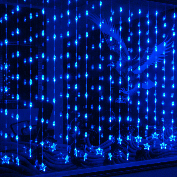 decoration lamp home decoration curtain partition decoration 128 crystal bead curtain led lights