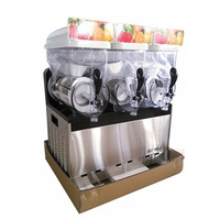 110V/220V Beverage Ice Machine Snow Melting Machine Three Tanks of Commercial Slush Machine Beverage Ice Frozen Juicer XRJ15X3