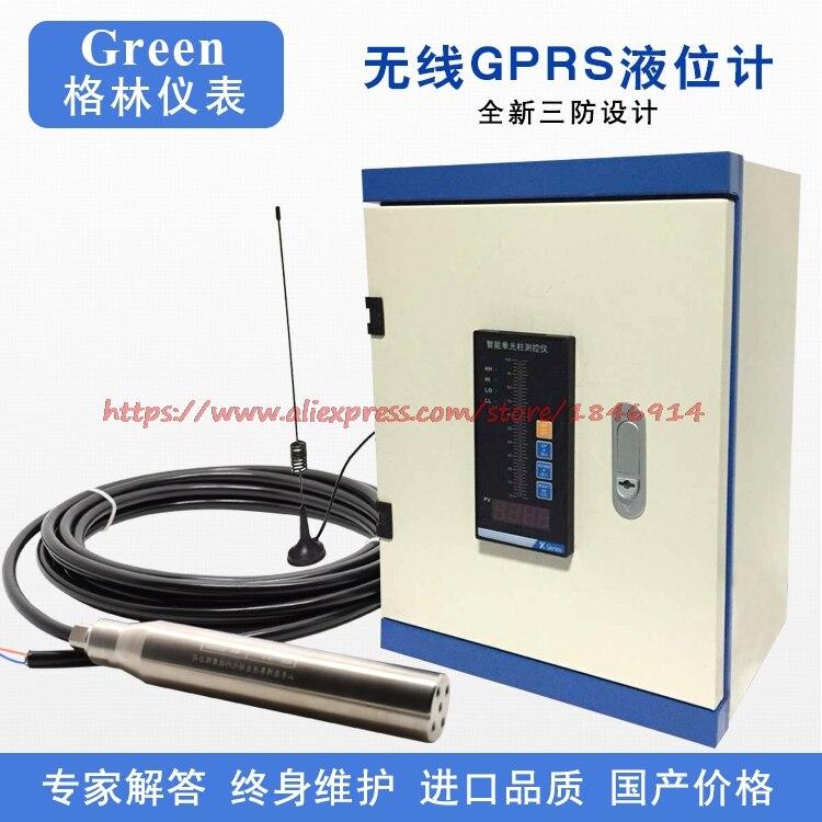 Free shipping  Wireless GPRS level meter Wireless water level indicator Wireless remote monitoring liquid level