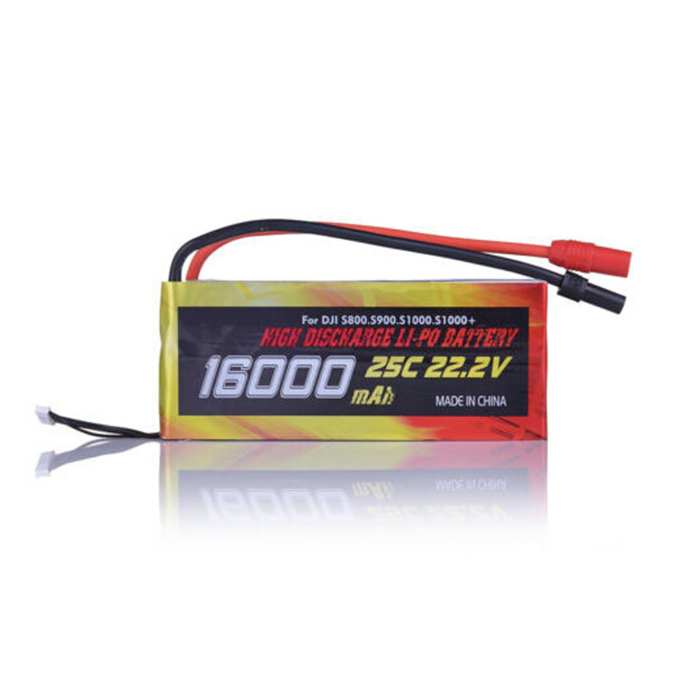 High Quality 16000mAh 6S1P 22.2V 25C LiPo Battery for Drone DJI S800 S900 S1000 helicopter 3pcs battery and european regulation charger with 1 cable 3 line for mjx b3 helicopter 7 4v 1800mah 25c aircraft parts