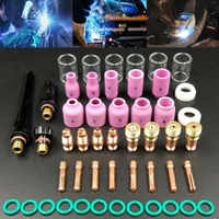 Welding Torch Stubby Gas Lens 49PCS For WP-17/18/26 TIG #10 Pyrex Glass Cup Kit Durable Practical Welding Accessories Easy Use