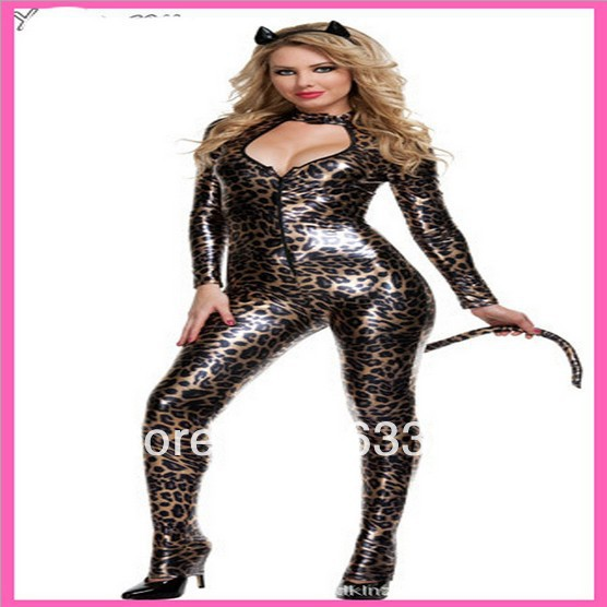free shipping 3298 patent leather Leopard cat woman costume piece leather pants cats ladies Halloween costumes  sc 1 st  AliExpress.com & free shipping 3298 patent leather Leopard cat woman costume piece ...