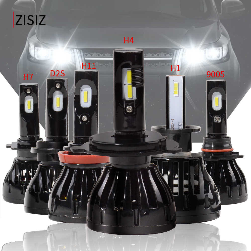 h7 led H1 H7 H11 H4 9005 D2S HB3 H10 H8 H9 D2C Car Headlight Auto Head LED Lamp Light Bulb Side Lumens CSP 60W 96W 4800LM Canbus