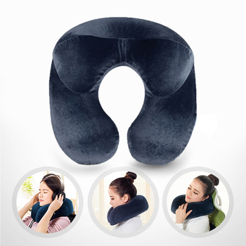 U-Shape Travel Pillow for Airplane Inflatable Neck Pillow Travel Accessories Comfortable Pillows 1