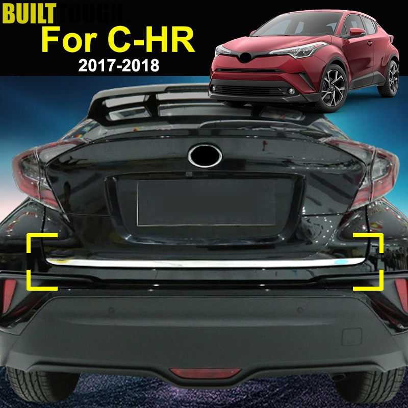 For Toyota C HR CHR 2017 2019 Chrome Rear Trunk Lid Edge Cover Trim Tailgate Door Handle Molding