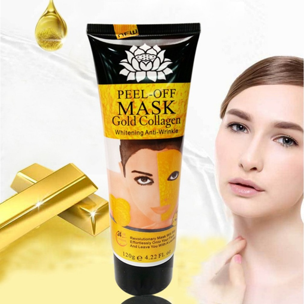 Collagen Skin Care: 24K Gold Collagen Peel Off Mask Whitening Anti Aging Face