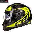 Fibra de carbono de la motocicleta casco de la moto ls2 cara llena motobike motocicleta casco casque cacapete kask 396txw hombres racing cascos ece