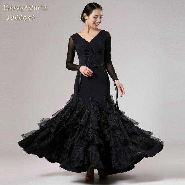 1098777d3779a4 2017 nieuwe moderne stijldansen dress zwarte uniformen waltz tango foxtrot  quickstep jurken voor vrouwen rood