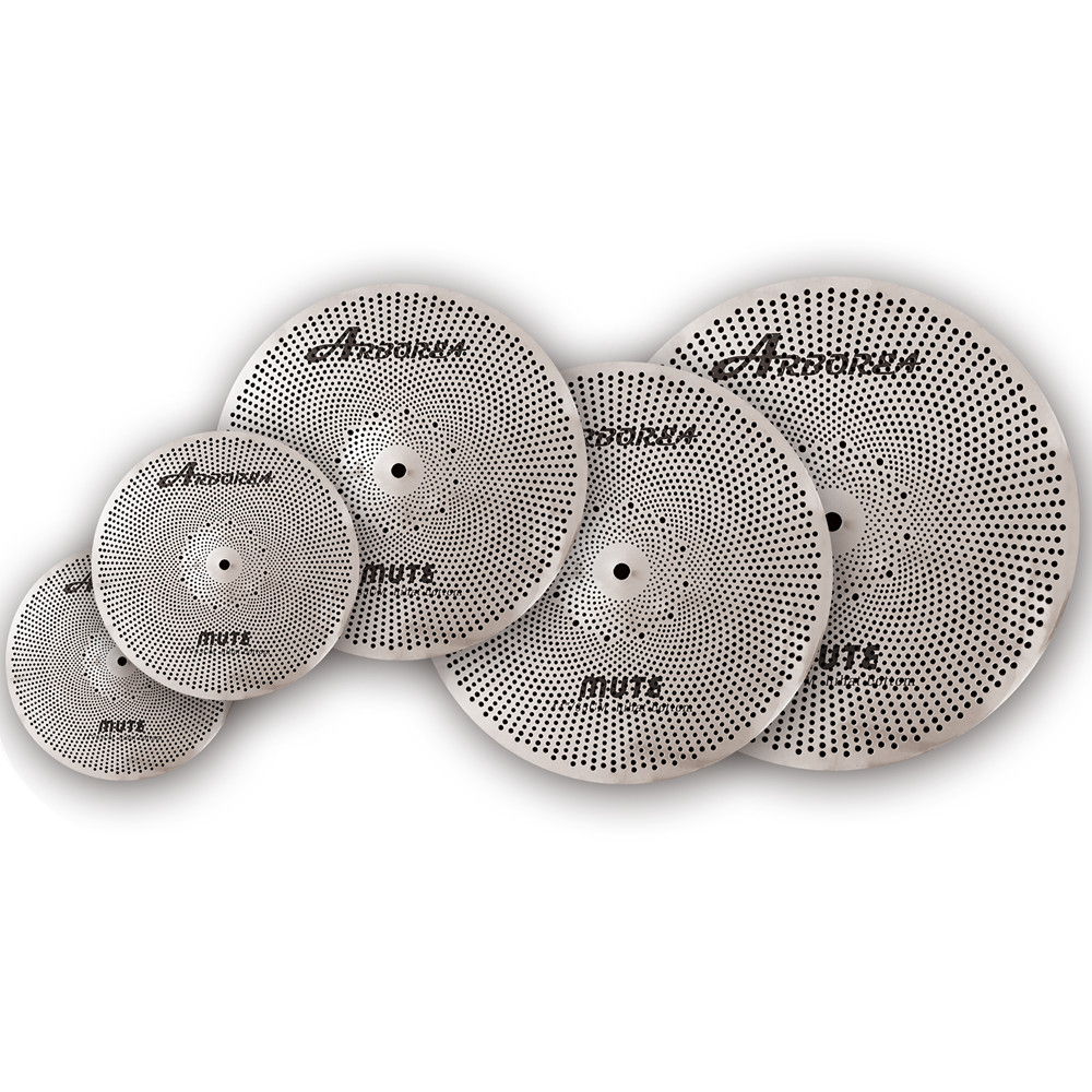 Arborea mute cymbal set five pieces(14+16+18+20+bag) most popular arborea low volume cymbal silence cymbal set with bag