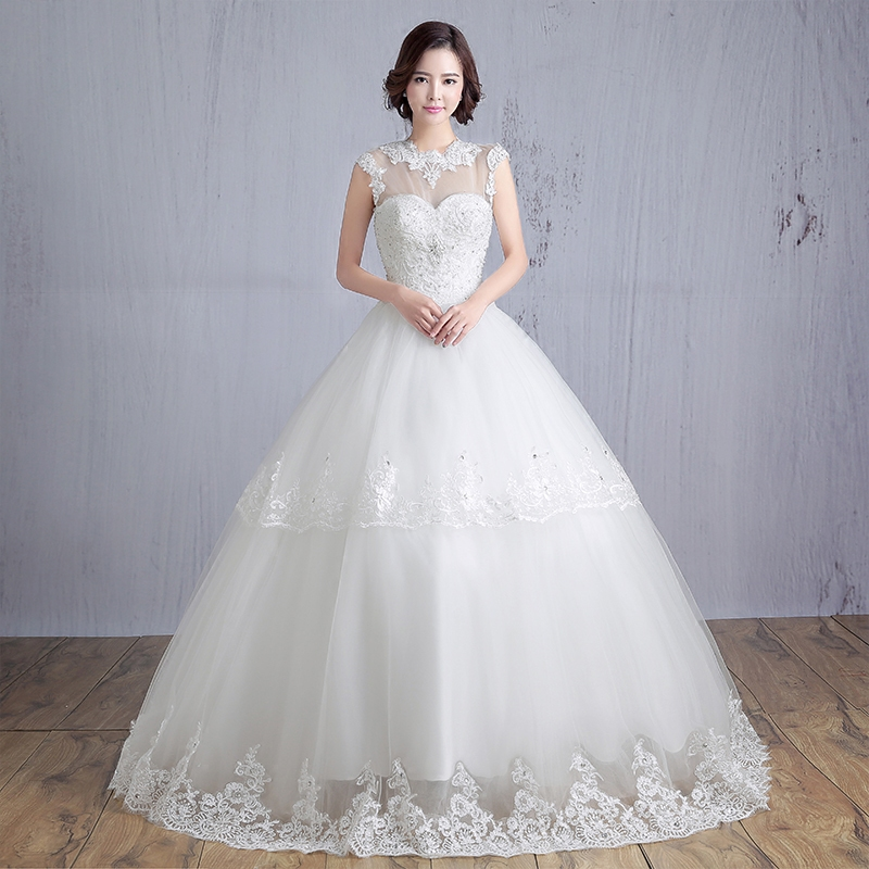 Simple Wedding Dresses For Fall: LC509 2016 Summer Bride Wedding Dress New Fashion Lace