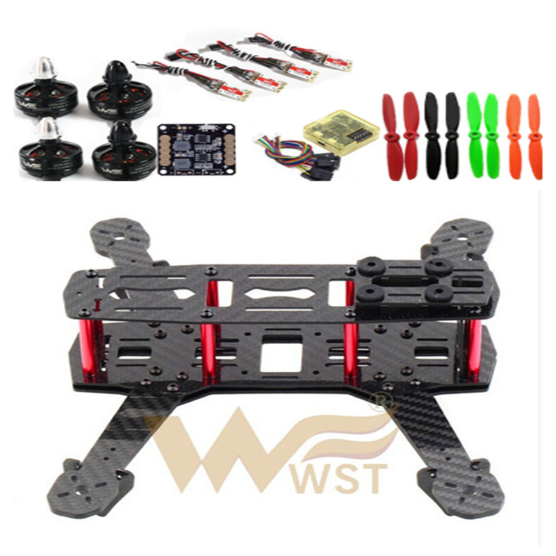 FPV QAV250 ZMR250 quadcopter frame kit run with 4S lipo the frame CC3D Wdiy 2204 2300KV motors WST BL 12A ESC DIY diy mini fpv 250 racing quadcopter carbon fiber frame run with 4s kit cc3d emax mt2204 ii 2300kv dragonfly 12a esc opto