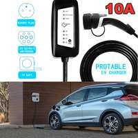 EVSE Level 2 EV Cable 10A Portable Fast Charger IEC62196 Type 2 UK Electric Vehicle Charging Station Cable 2.2kw,6m/19.68ft