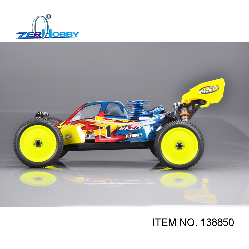 RC CAR HSP BAZOOKA 1/8 RC NITRO RTR 4WD OFF ROAD BUGGY HIGH PERFORMANCE 28CXP ENGINE  (item no. 138850) 02023 clutch bell double gears 19t 24t for rc hsp 1 10th 4wd on road off road car truck silver