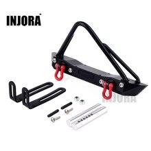 INJORA Metall Frontschürze mit RC Crawler Winch Berg 135mm für 1/10 RC Rock Auto Axial SCX10 90046
