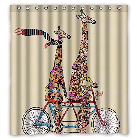 Attractive Aliexpress.com : Buy Bathroom Shower Curtains Giraffe Wear Scarf Ridding  180x180cm Eco Friendly Waterproof Fabric Shower Curtain From Reliable  Waterproof ...