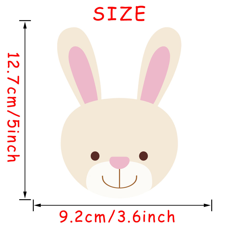Cute Baby Bunny Rabbit Full Color Vinyl Wall Art Decal Sticker Car Bumper Sticker Or Laptop Decals Self Adhesive Wallpaper