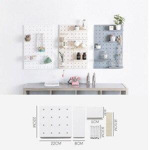 Image 3 - Estante de pared de plástico montado en la pared estante de pared blanco elegante estante de exhibición Simple de moda decoración del hogar