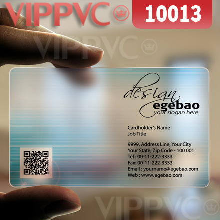 10013 ordering business cards - matte faces transparent card thin 0.36mm