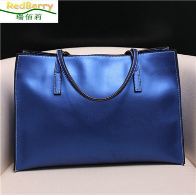 Hot Sale 2015 New Genuine Leather Bag Women Handbag Solid Fashion Top Handle Bag Casual Women Tote High Quality Fast Shipping hot sale 2016 new fashion women girls winter warm wallet high quality tote bag card pack small hairy bag handbag