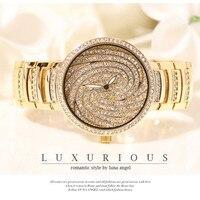 free Shipping Women Wristwatch Luxury Rhinestone gold & silver wrist watch hodinky
