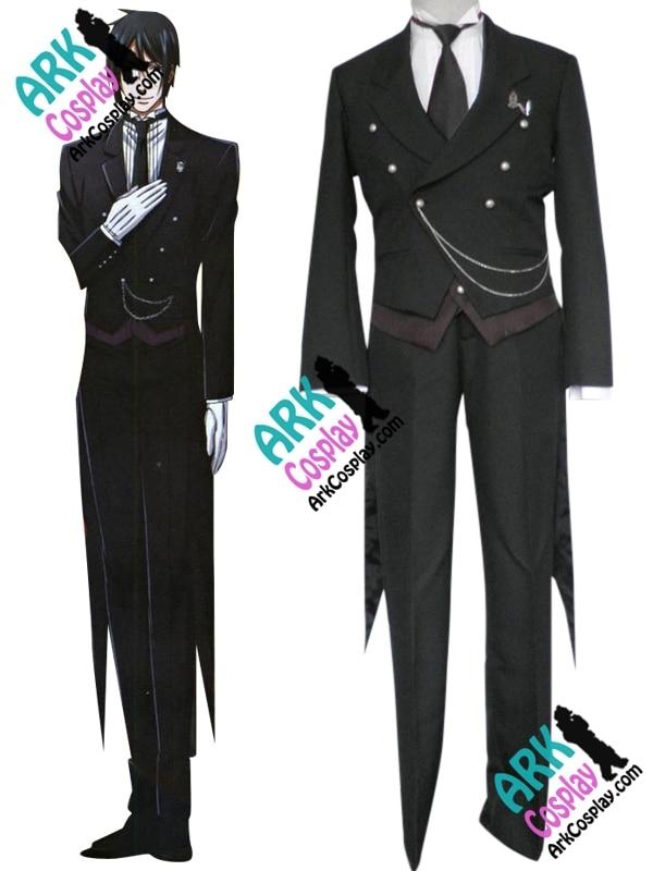 Kuroshitsuji Sebastian Cosplay Costume Black Mens Black Butler Cosplay Costume-in Anime Costumes ...
