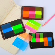 3PCS Novelty Fluorescent Candy Color Self Adhesive Memo Pad Sticky Notes Sticker Label Escolar Papelaria School Office Supply