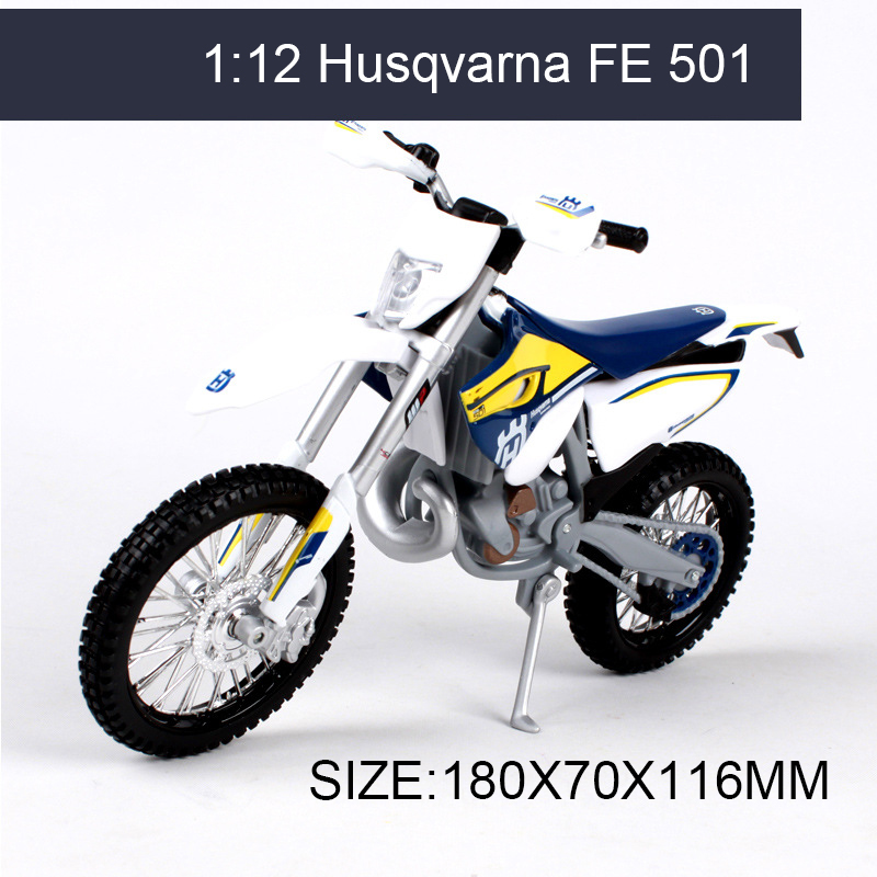 MAISTO Husqvarna FE 501 off-road 1:12 scale Motorcycle Diecast Metal Bike Miniature Race Toy For Gift Collection