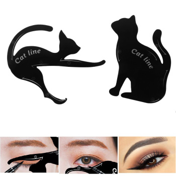 2Pairs Template Cat Eye Fish Tail Double Wing Eyeliner Stencil Eye Liner Models Eyebrows Card Shaper DIY Beauty Makeup Tools