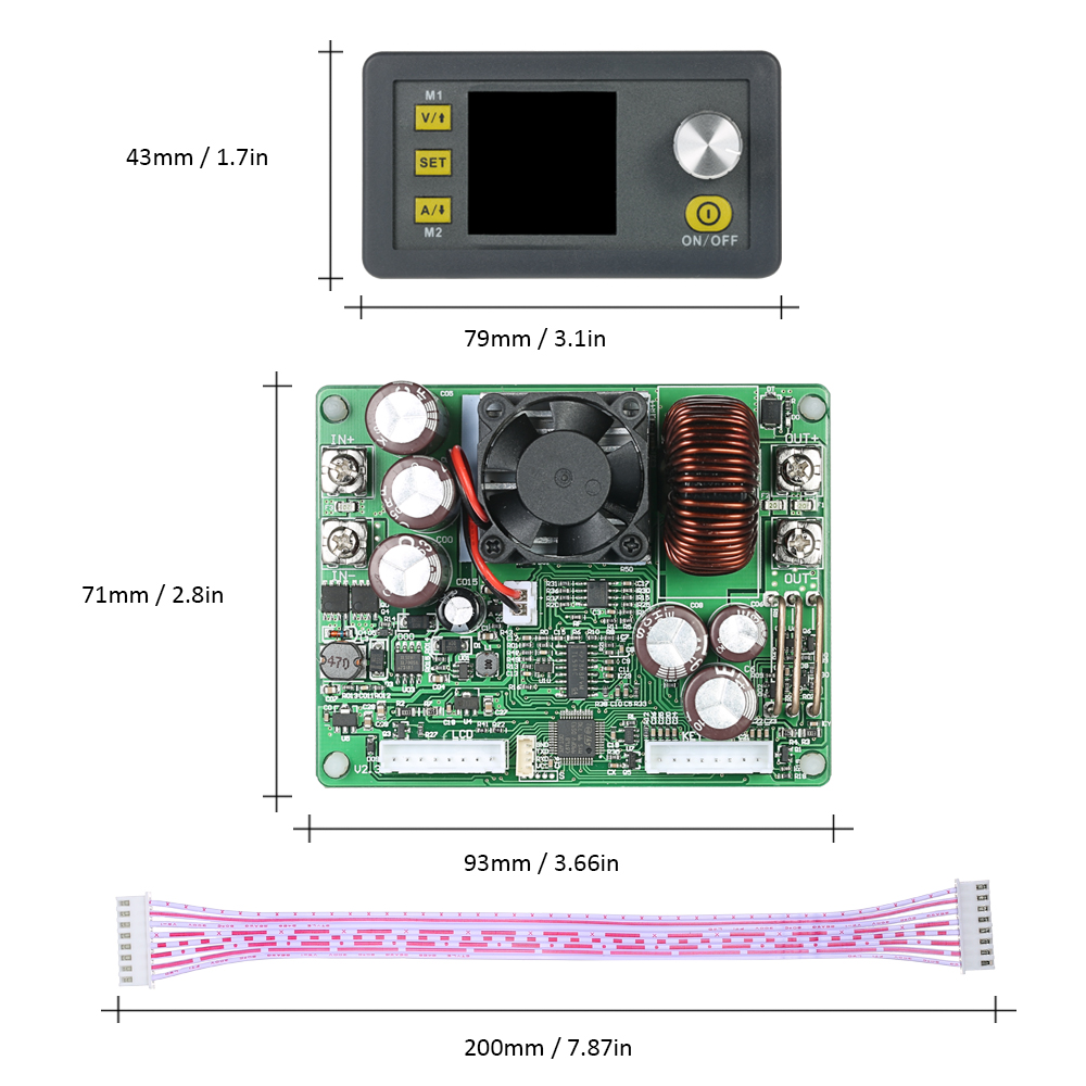 Image 5 - LCD Digital Programmable Control Buck Boost Power Supply Module Constant Voltage Current DC 0 50.00V/0 20.00A Output DPS5020-in Integrated Circuits from Electronic Components & Supplies