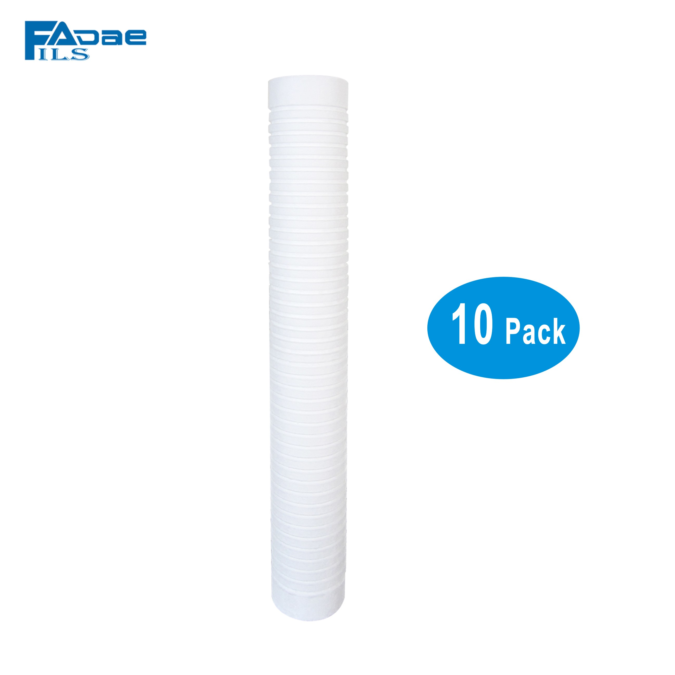 20 in L x 2 1 2 OD Sediment PP Grooved Filter 1 Micron 10pcs lot