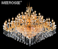Gorgeous Crystal Chandelier Light Fixture Classic Golden Hotel Project Large Crystal Lamp Lustres Lighting 100% Guarantee