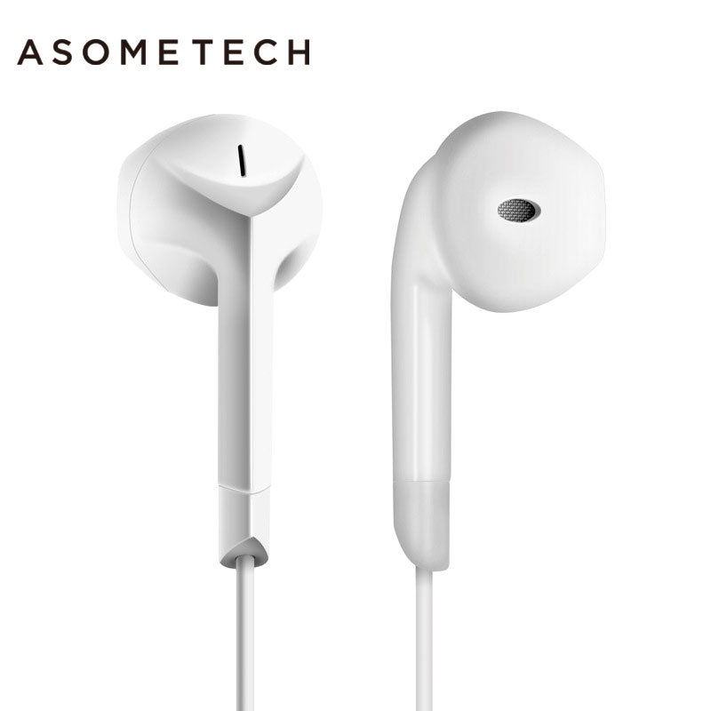 2017 Hot Sale E6C Earphone Noise Canceling Headset Stereo Earbuds with Microphone for iPhone xiaomi Android Airpods Earpods dacom carkit wireless bluetooth headset earphone with mic car charger for apple iphone 7 plus airpods android xiaomi samsung lg