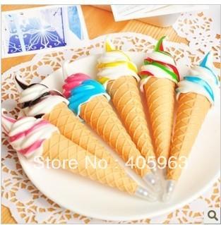 Free shipping ice cream ball pen, gift pen ,promotion creation adward ball point pen dropship