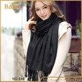 2016 кашемира дизайн длинный шарф простой черный мода тепло зимой весна осень платок для женщин пашмины платок