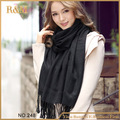 2016 marca de cachemira diseño largo de la bufanda del llano negro moda cálida en invierno mantón del resorte del otoño para mujeres chal pashmina