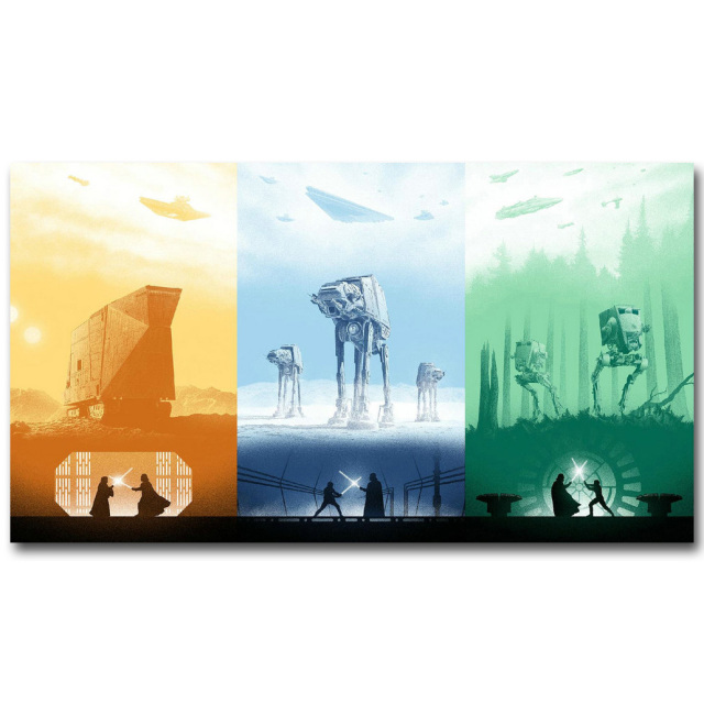 Star Wars 7 The Force Awakens Art Silk Fabric Poster Print Minimalism