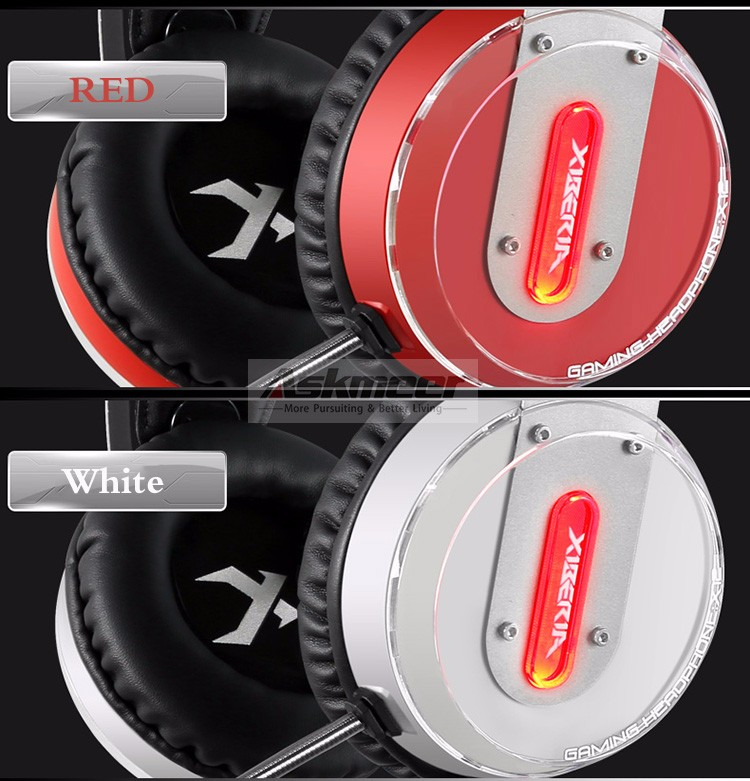 Xiberia X12 USB Gaming Headset Surround Sound Noise Canceling Luminous LED Light Over ear Headphones with Microphone for PC (3)